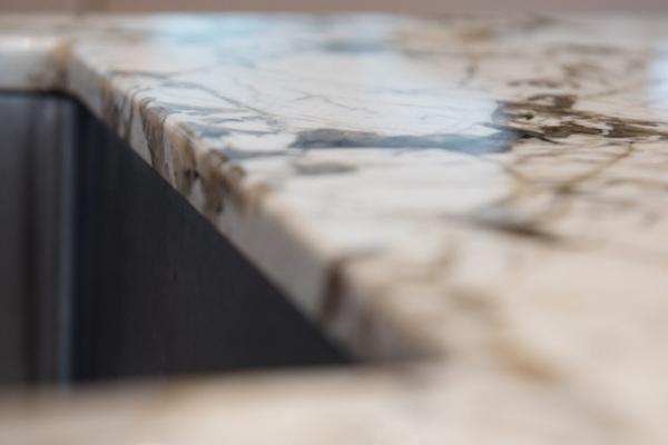 Küchenarbeitsplatte Granit, Spüle Unterbau